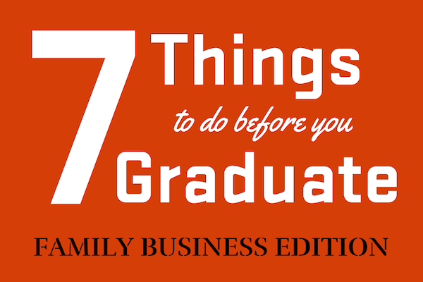 Seven things to do before you graduate