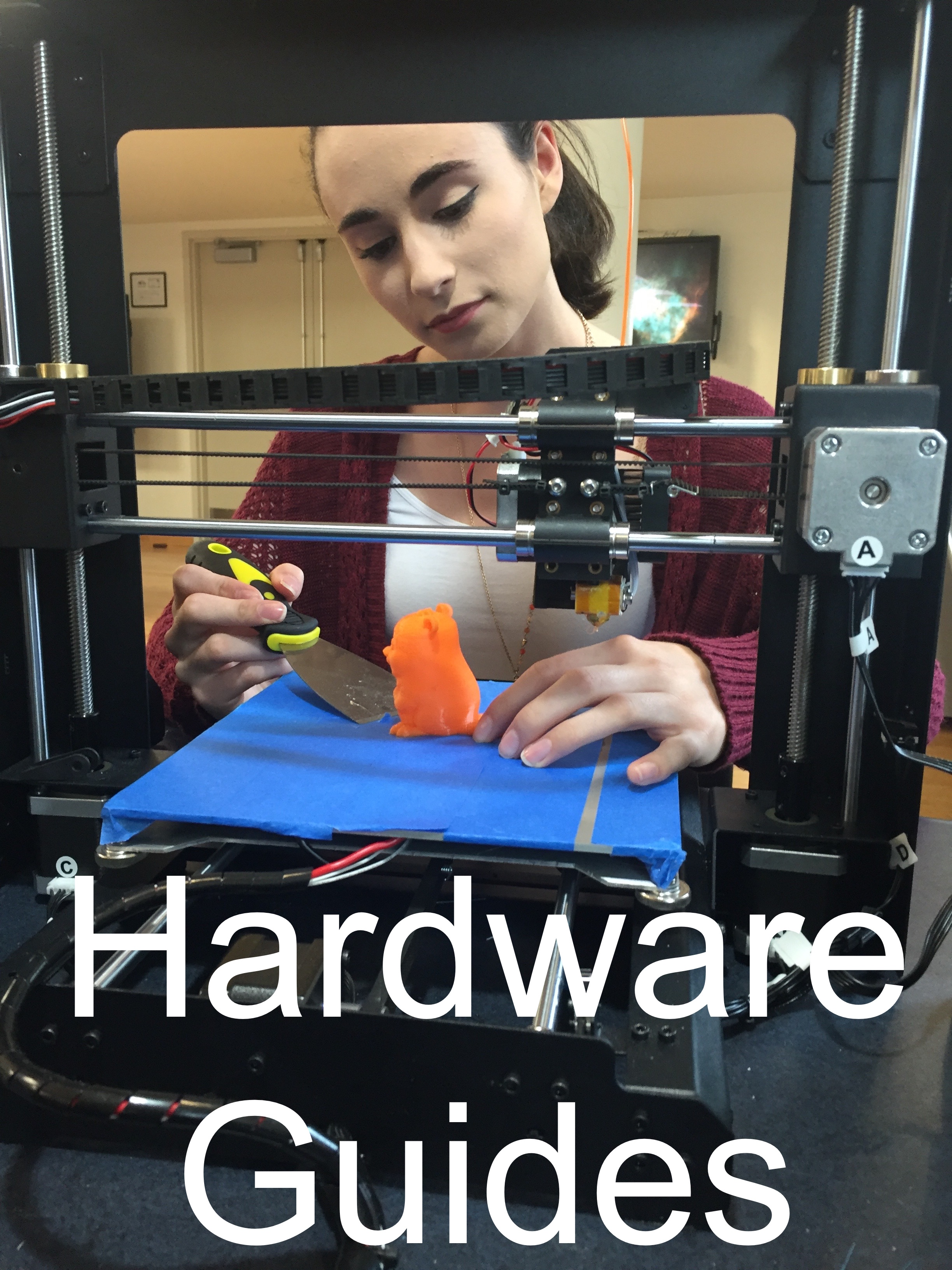 Moriah at a 3d Printer