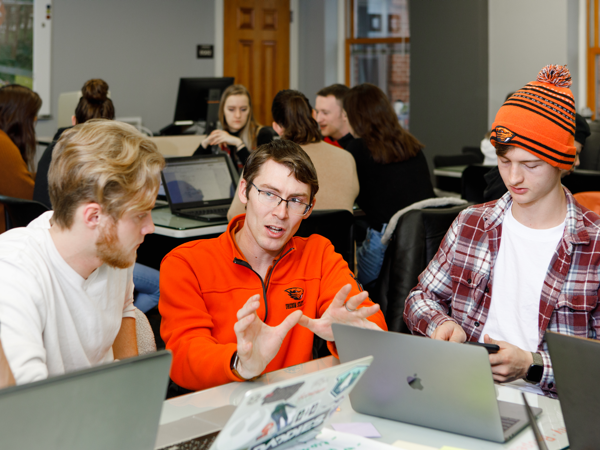 Students in a first-year Blueprint class