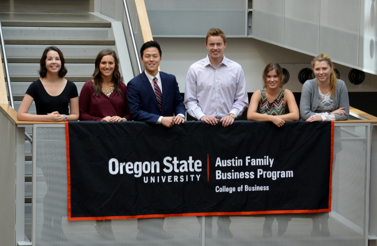 Austin Family Business students