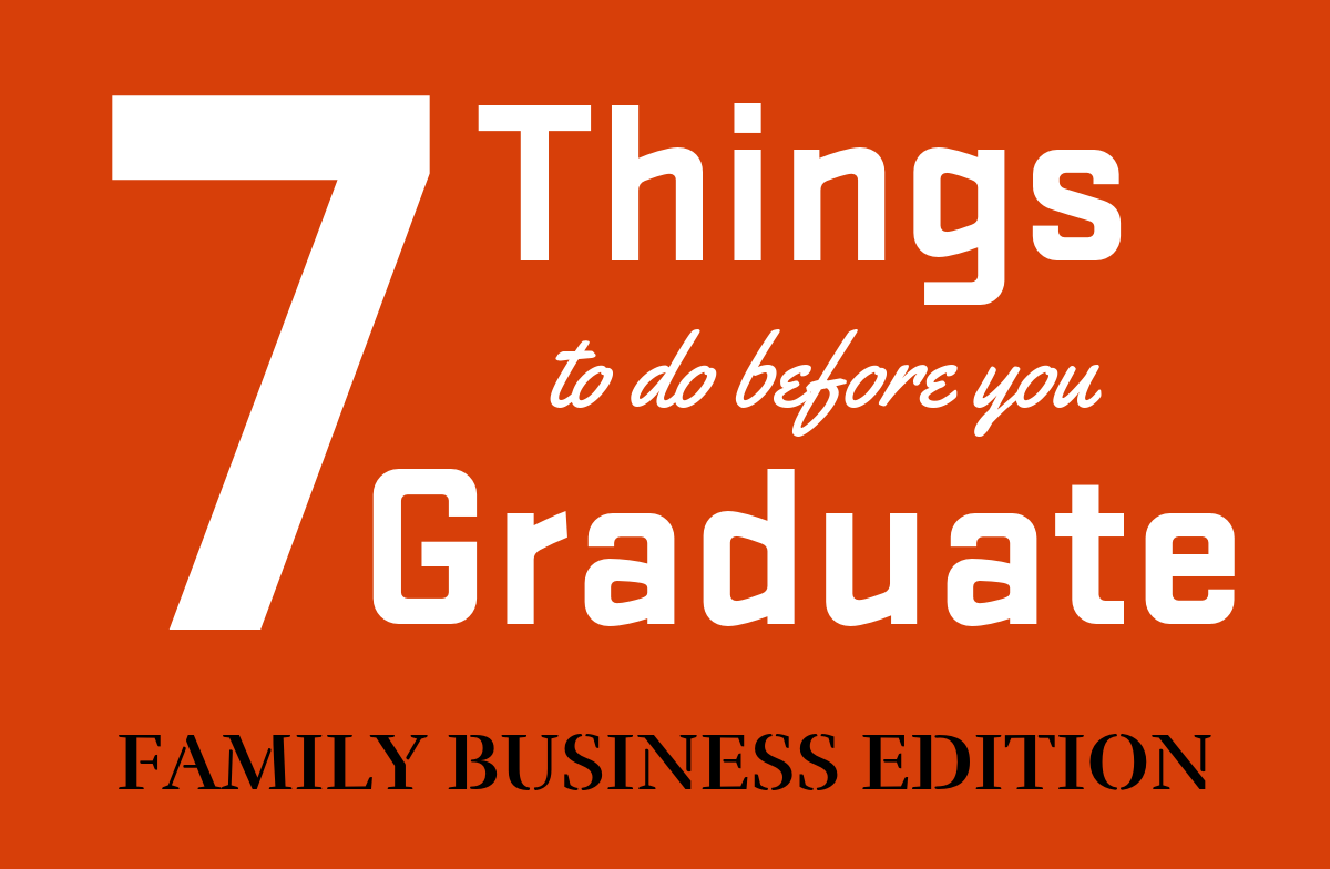 Sevens to do before you graduate
