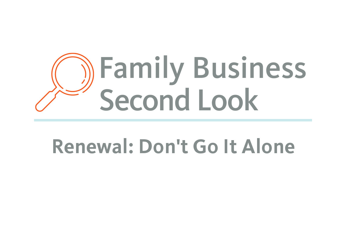 Second Look: Renewal Don't Go It Alone