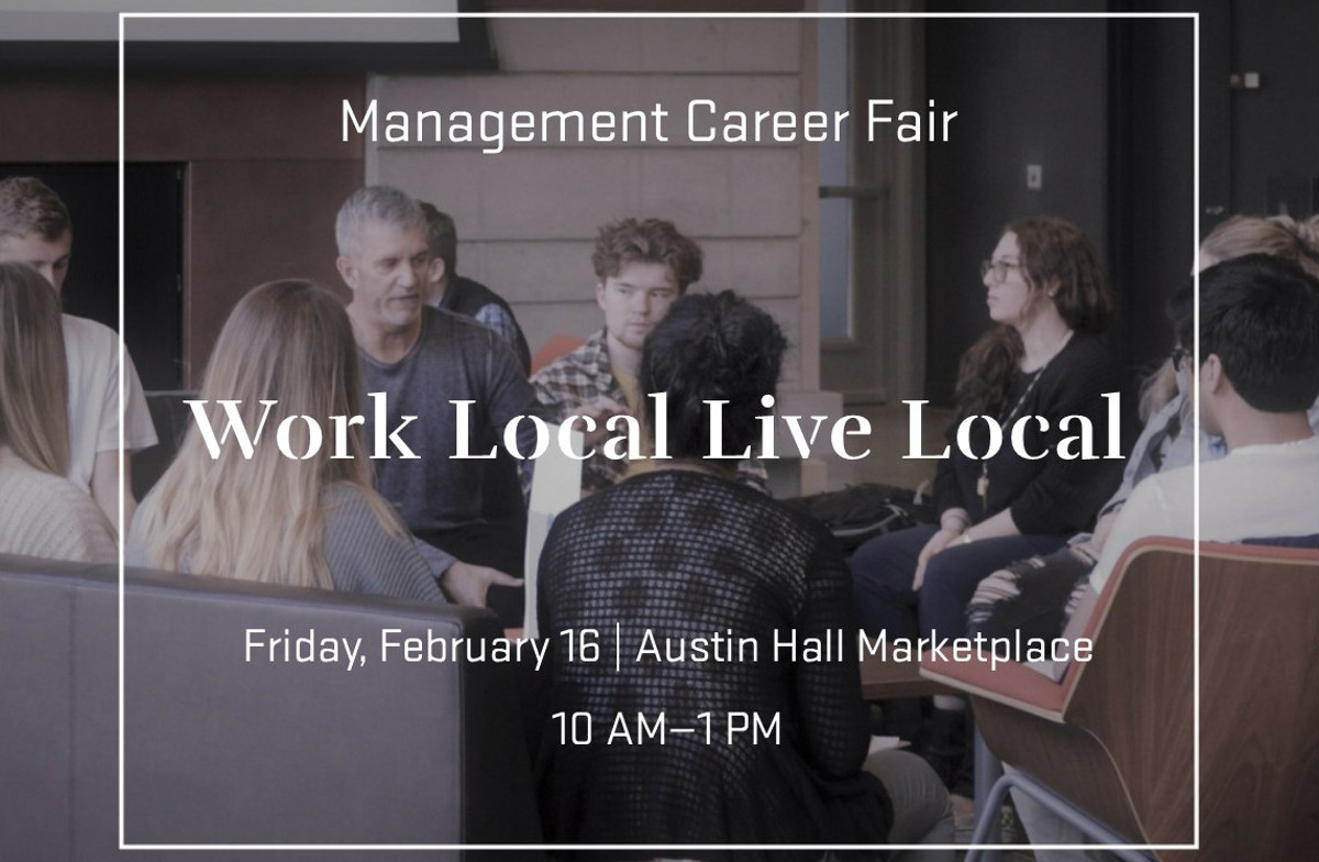 Work Local Live Local Management Career Fair