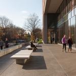 Austin Hall exterior seating